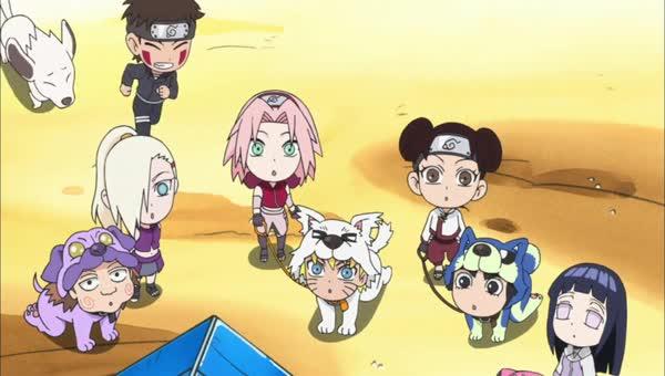 Naruto SD 47: Psi potřebují psí kamarády / Nindža, na kterého jste čekali!